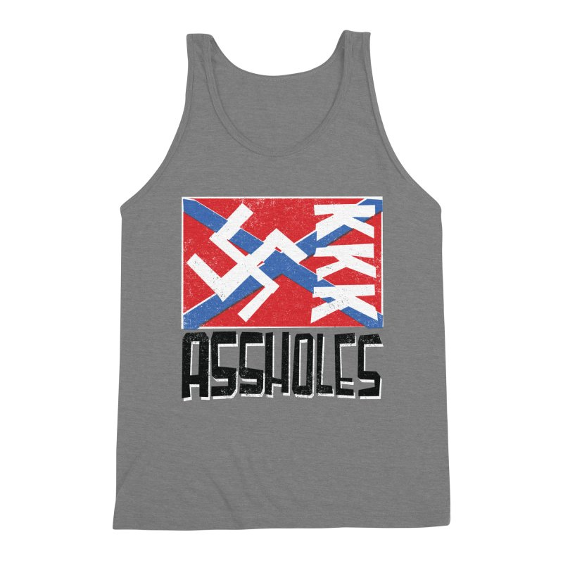 Assholes (black text) Men's Tank by Object/Tom Pappalardo