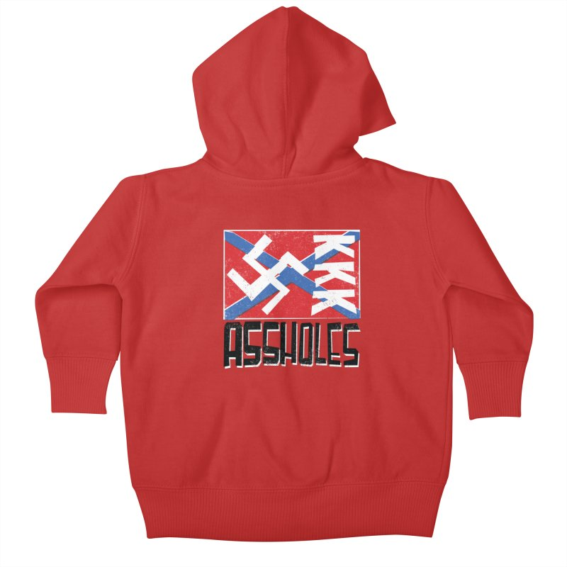 Assholes Kids Baby Zip-Up Hoody by Tom Pappalardo / Standard Design