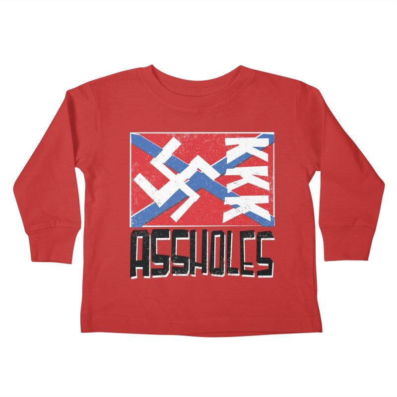 Assholes Kids Toddler Longsleeve T-Shirt by Tom Pappalardo / Standard Design