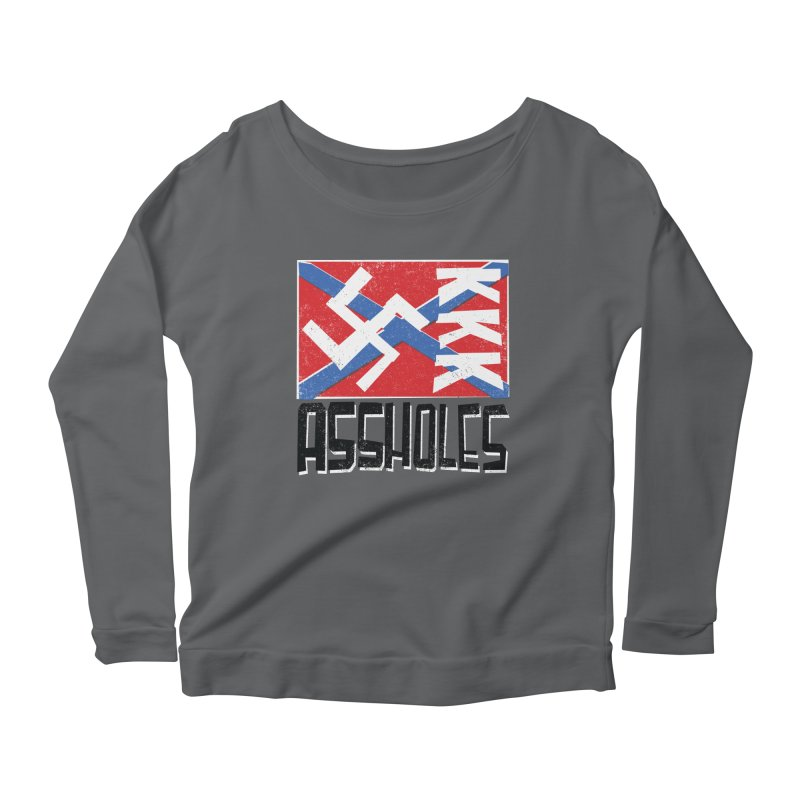 Assholes Women's Scoop Neck Longsleeve T-Shirt by Tom Pappalardo / Standard Design