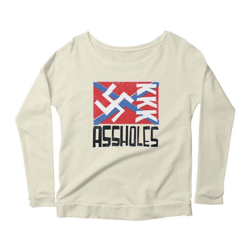 Assholes Women's Scoop Neck Longsleeve T-Shirt by Tom Pappalardo / Standard Design