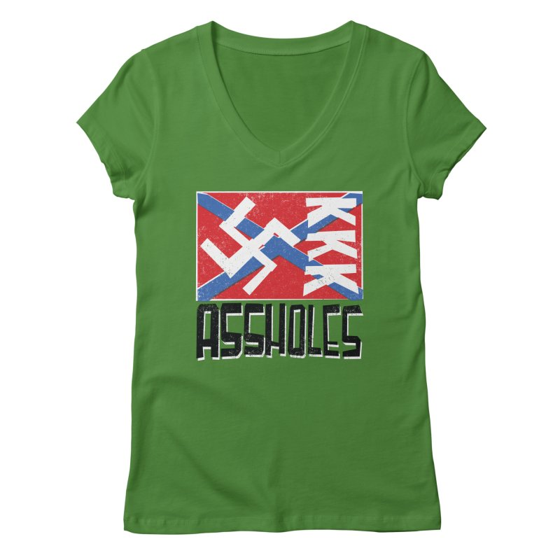 Assholes Women's V-Neck by Tom Pappalardo / Standard Design
