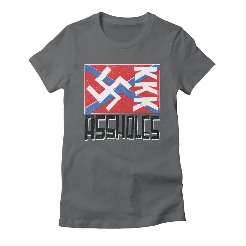 Assholes Women's Fitted T-Shirt by Tom Pappalardo / Standard Design