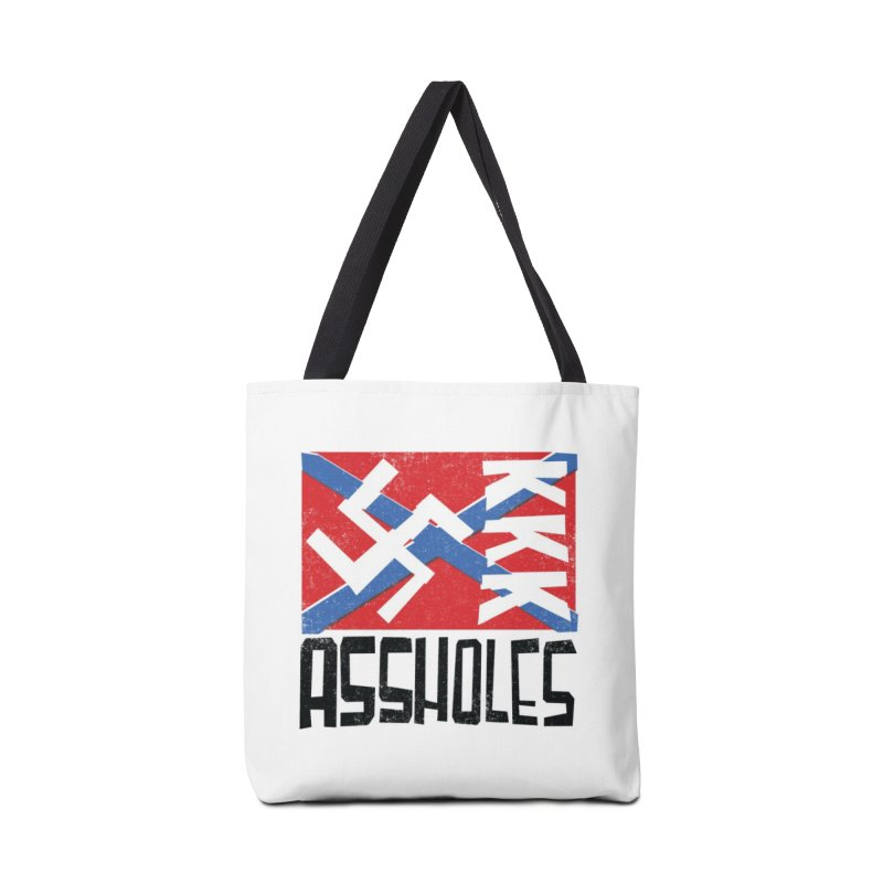 Assholes (black text) Mugs, Buttons, & More Bag by Object/Tom Pappalardo