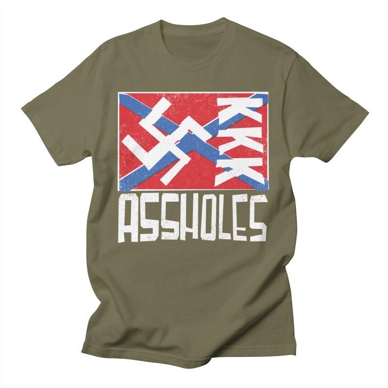 Assholes (white text) Men's T-Shirt by Object/Tom Pappalardo