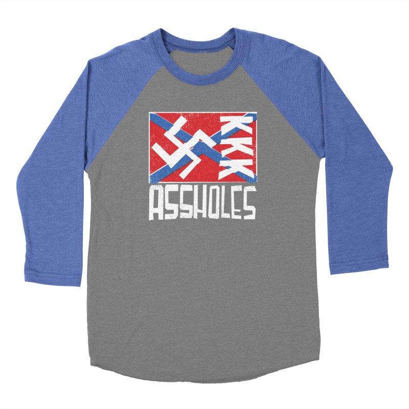 Assholes (white text) Women's Longsleeve T-Shirt by Object/Tom Pappalardo