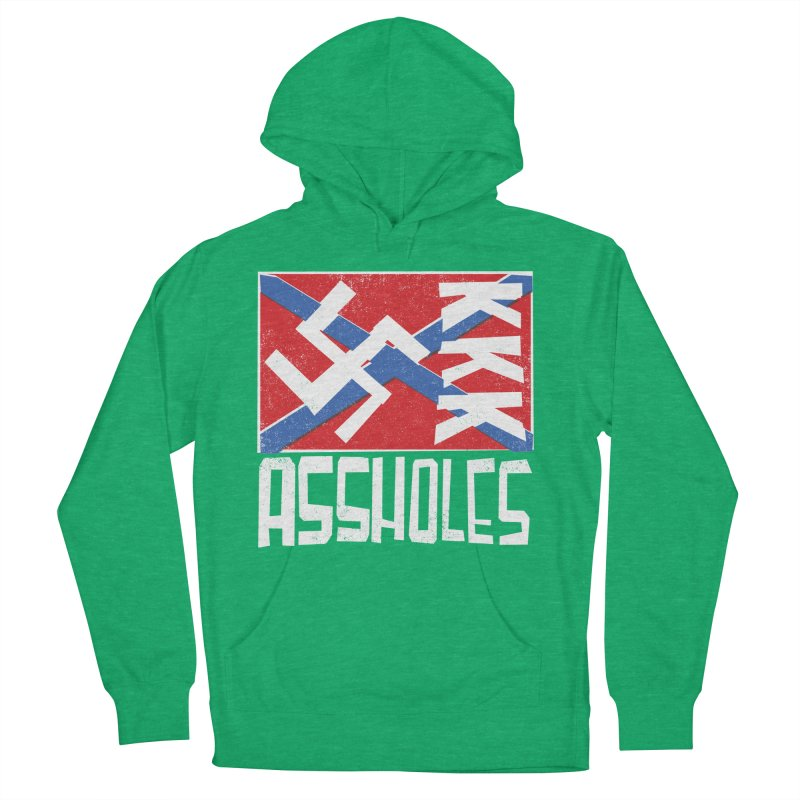 Assholes Men's French Terry Pullover Hoody by Tom Pappalardo / Standard Design