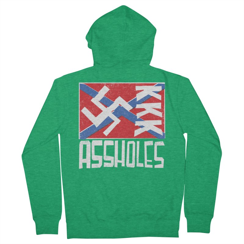 Assholes Men's Zip-Up Hoody by Tom Pappalardo / Standard Design