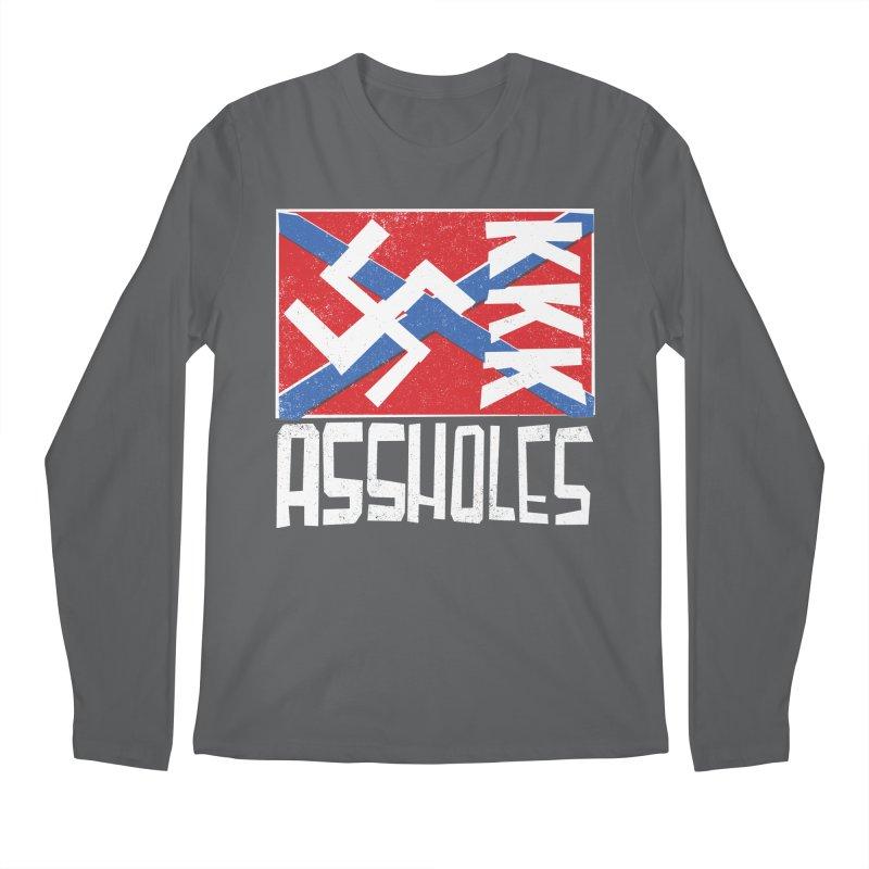 Assholes (white text) Men's Longsleeve T-Shirt by Object/Tom Pappalardo