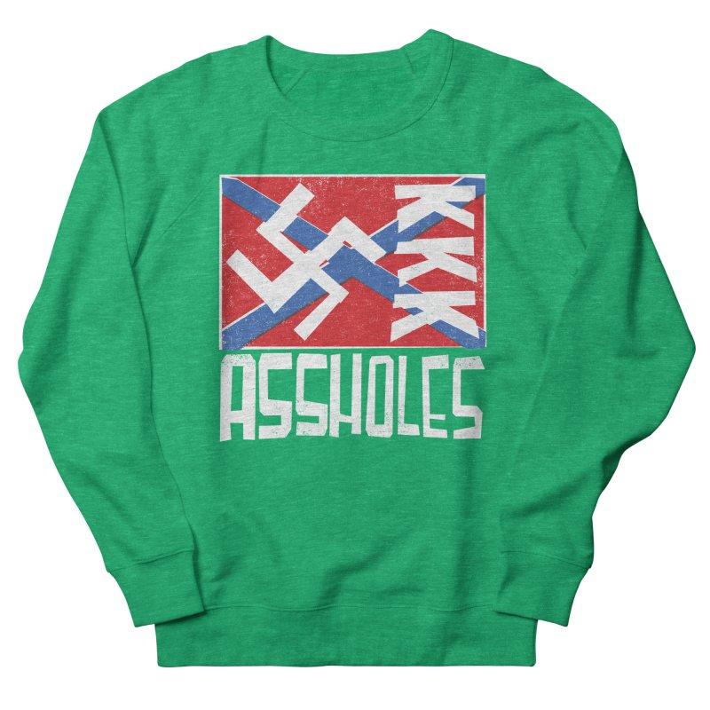 Assholes (white text) Women's Sweatshirt by Object/Tom Pappalardo