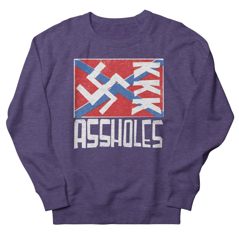 Assholes Women's French Terry Sweatshirt by Tom Pappalardo / Standard Design