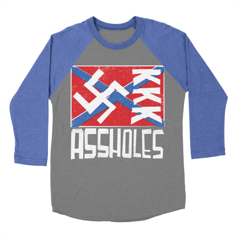 Assholes Women's Baseball Triblend Longsleeve T-Shirt by Tom Pappalardo / Standard Design