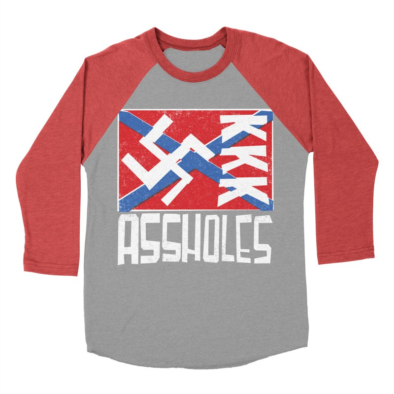 Assholes Women's Baseball Triblend T-Shirt by Tom Pappalardo / Standard Design