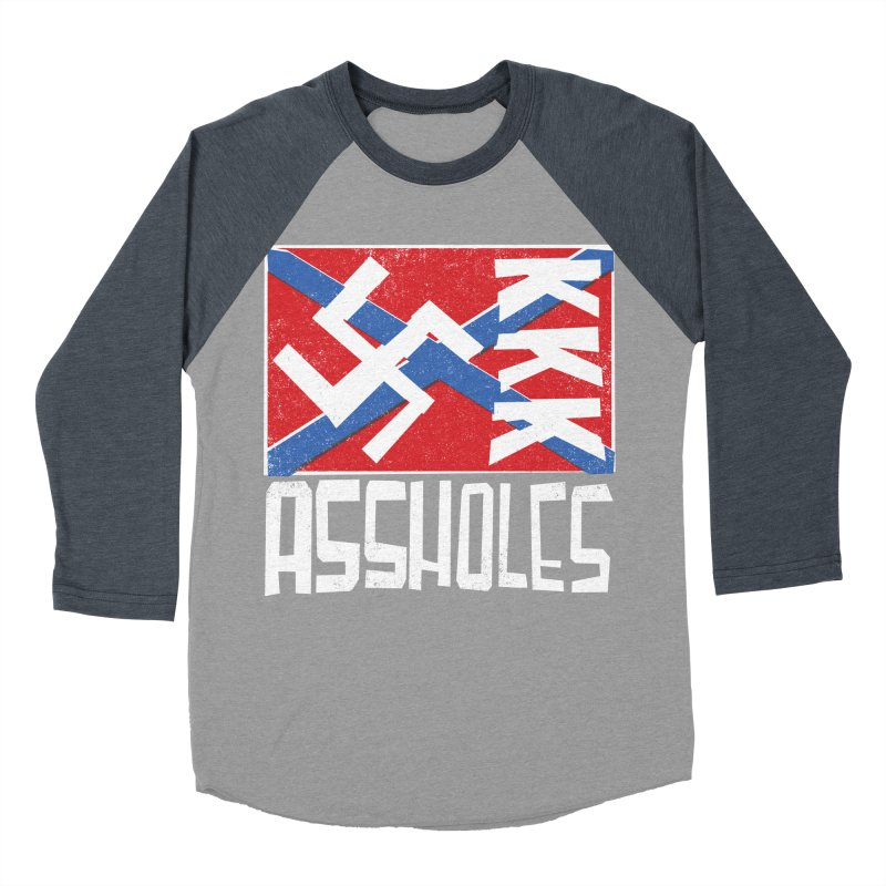 Assholes Women's Baseball Triblend T-Shirt by Tom Pappalardo / Standard Design