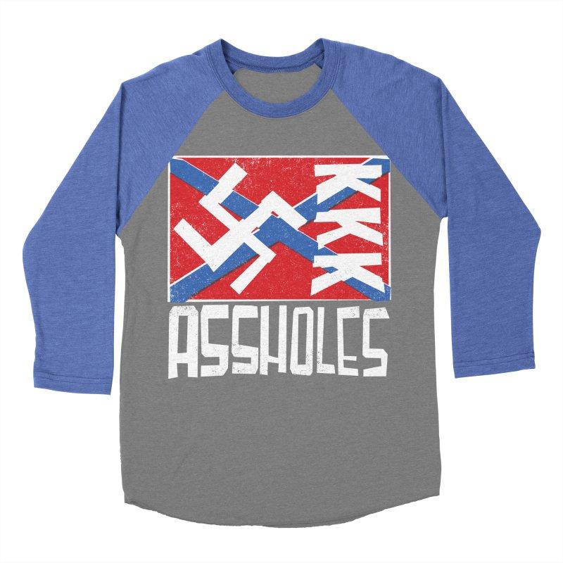 Assholes Men's Baseball Triblend Longsleeve T-Shirt by Tom Pappalardo / Standard Design