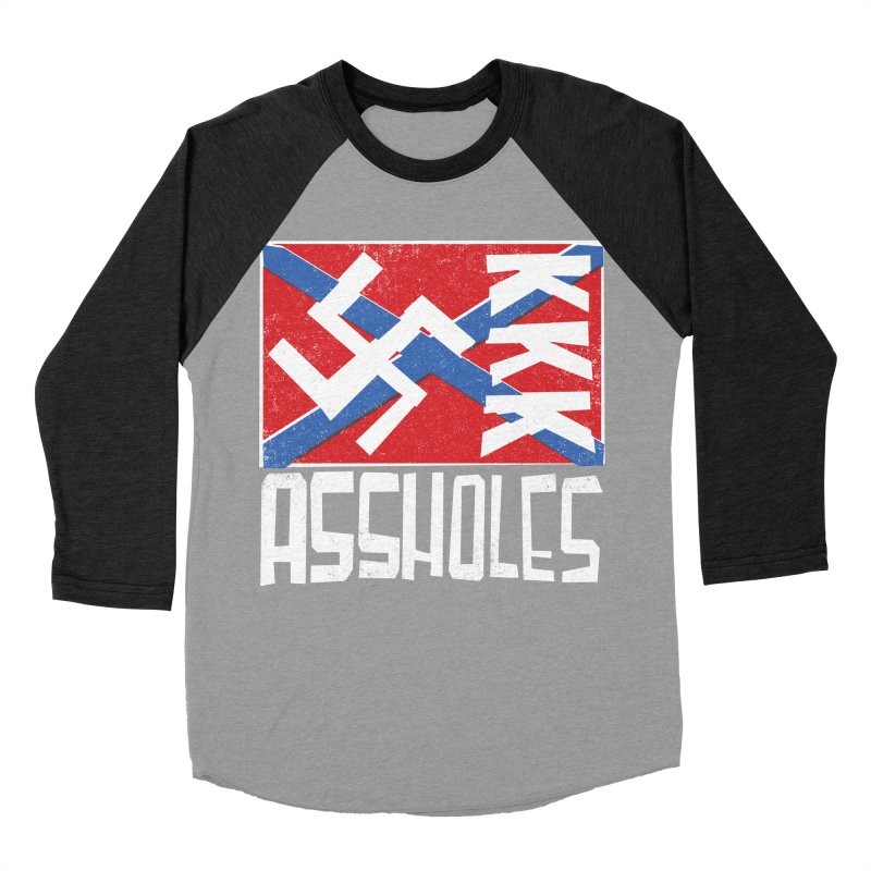 Assholes Men's Baseball Triblend Longsleeve T-Shirt by Tom Pappalardo / Standard Design