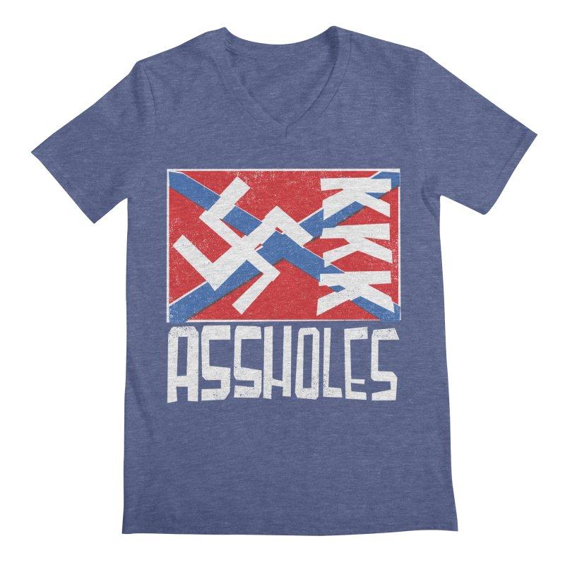 Assholes Men's Regular V-Neck by Tom Pappalardo / Standard Design