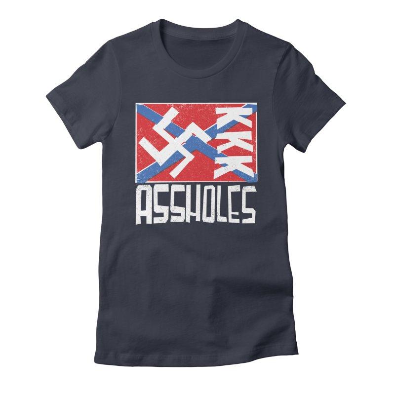 Assholes (white text) Women's T-Shirt by Object/Tom Pappalardo