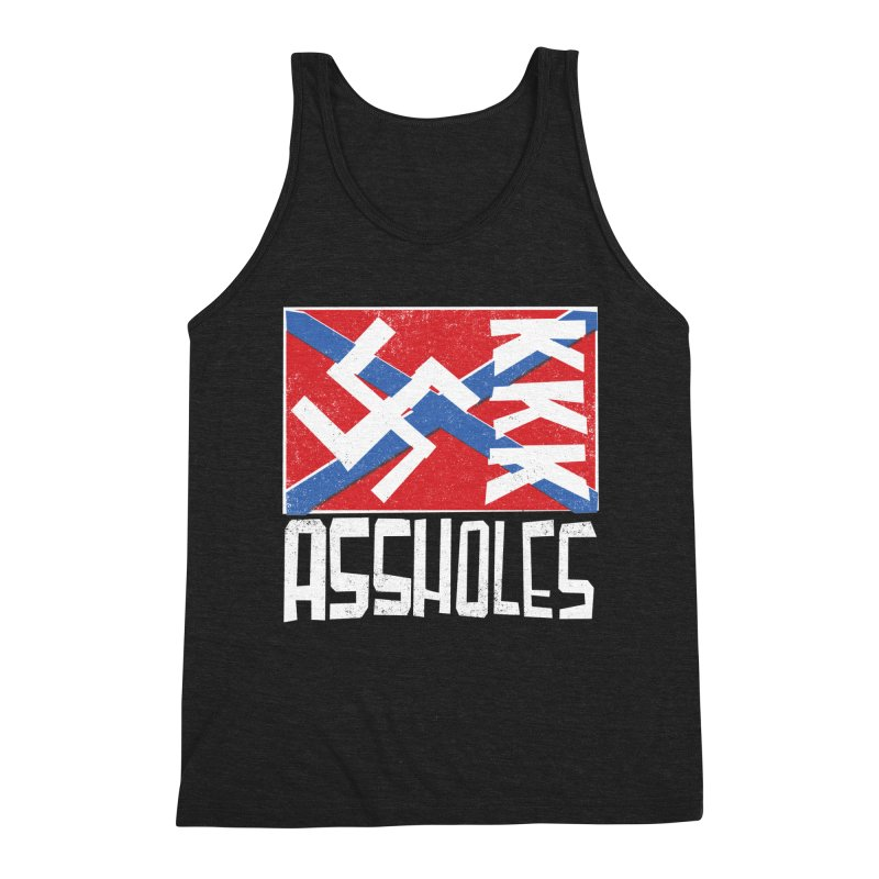 Assholes (white text) Men's Tank by Object/Tom Pappalardo