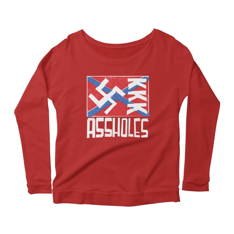 Assholes Women's Longsleeve Scoopneck  by Tom Pappalardo / Standard Design