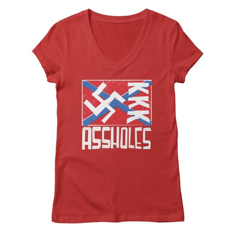 Assholes Women's Regular V-Neck by Tom Pappalardo / Standard Design