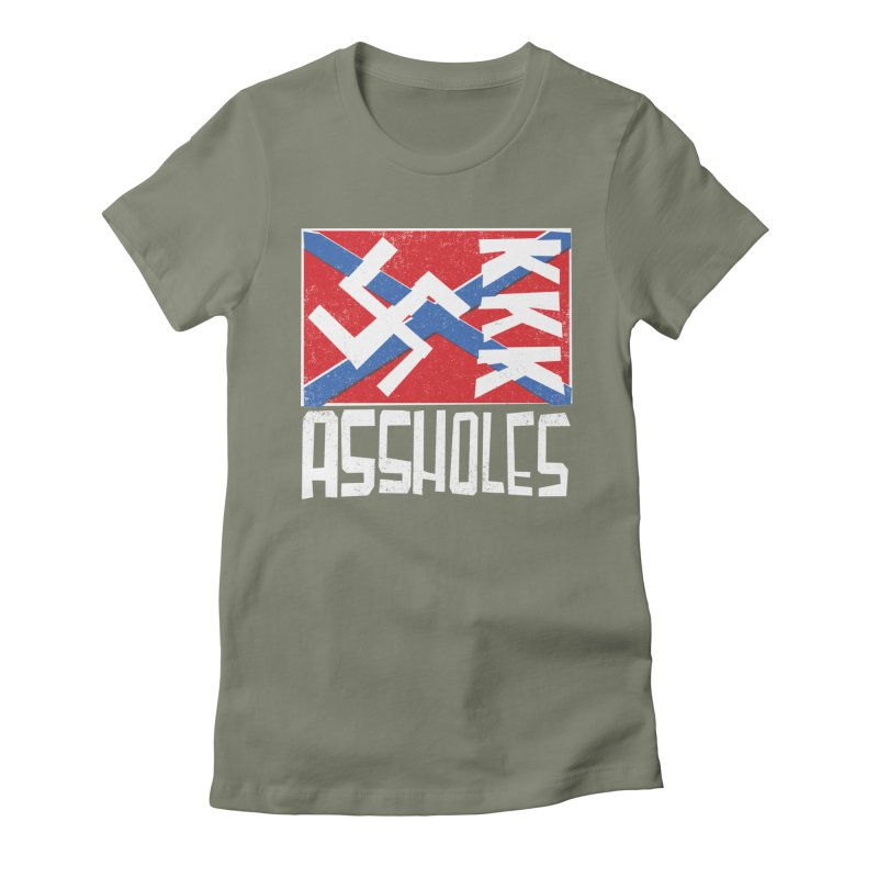 Assholes Women's Fitted T-Shirt by Tom Pappalardo / Standard Design