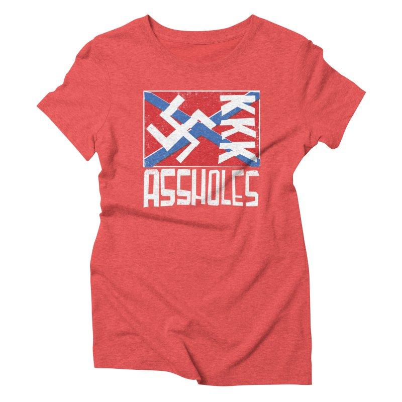 Assholes Women's Triblend T-Shirt by Tom Pappalardo / Standard Design