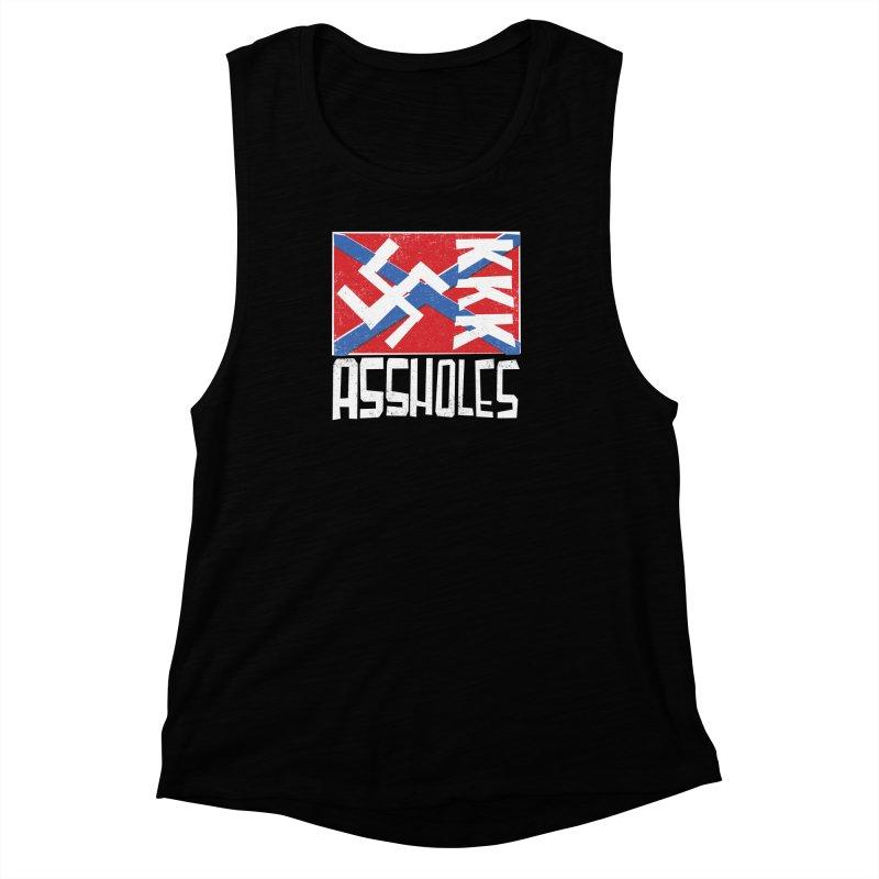 Assholes Women's Muscle Tank by Tom Pappalardo / Standard Design