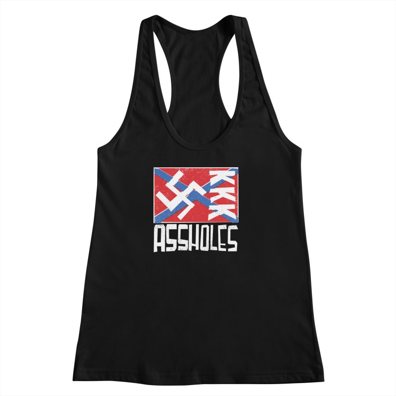 Assholes Women's Racerback Tank by Tom Pappalardo / Standard Design