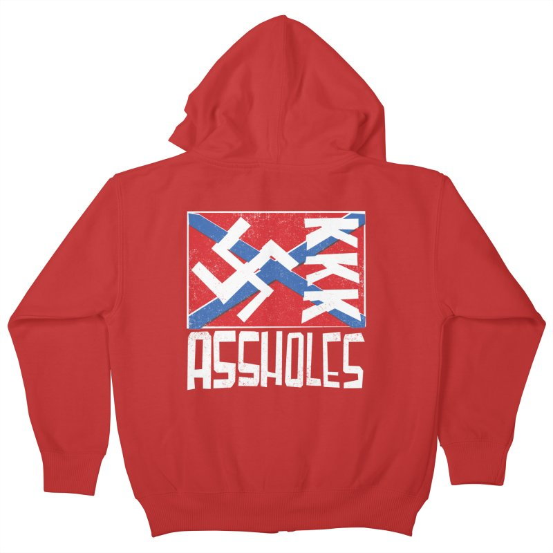 Assholes Kids Zip-Up Hoody by Tom Pappalardo / Standard Design