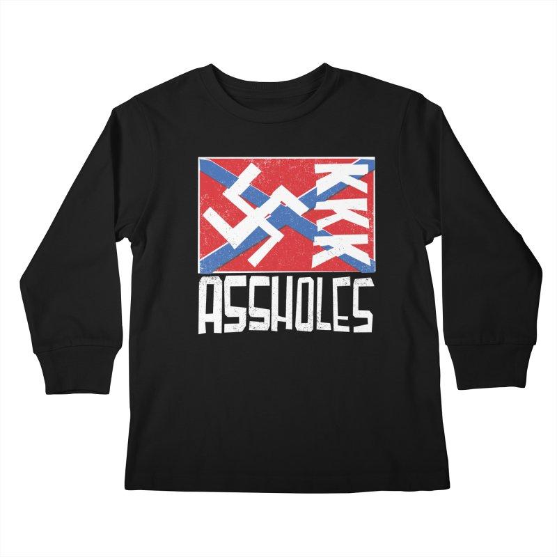 Assholes Kids Longsleeve T-Shirt by Tom Pappalardo / Standard Design