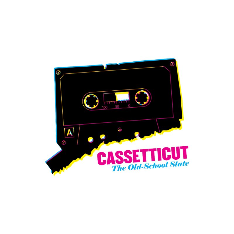 Cassetticut: The Old School State Women's T-Shirt by Object/Tom Pappalardo