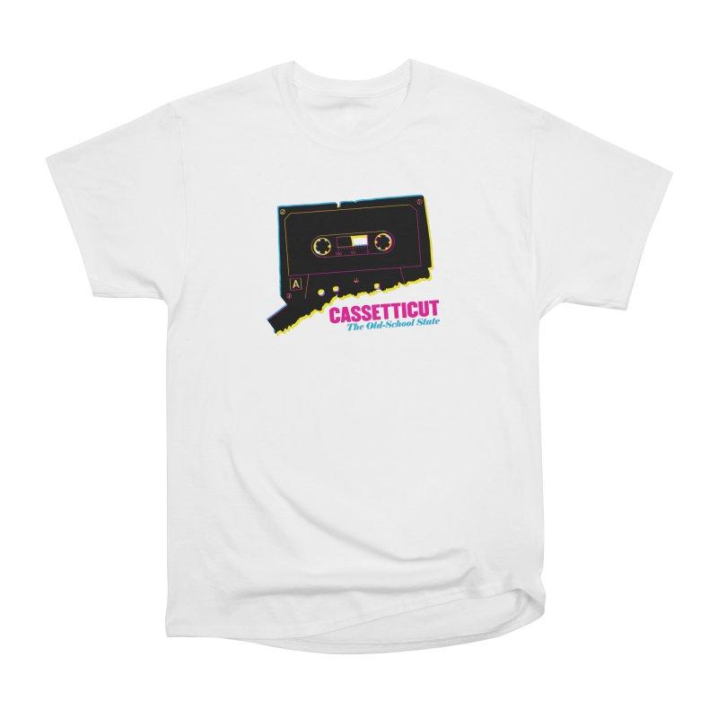 Cassetticut: The Old School State Women's T-Shirt by Object/Tom Pappalardo