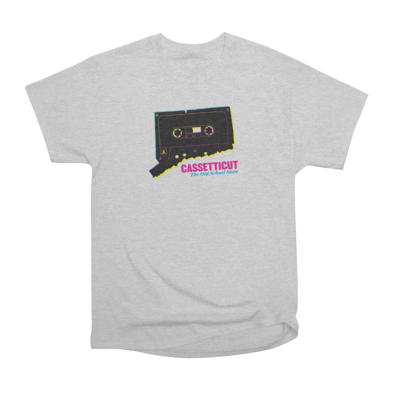 Cassetticut: The Old School State Men's Heavyweight T-Shirt by Tom Pappalardo / Standard Design