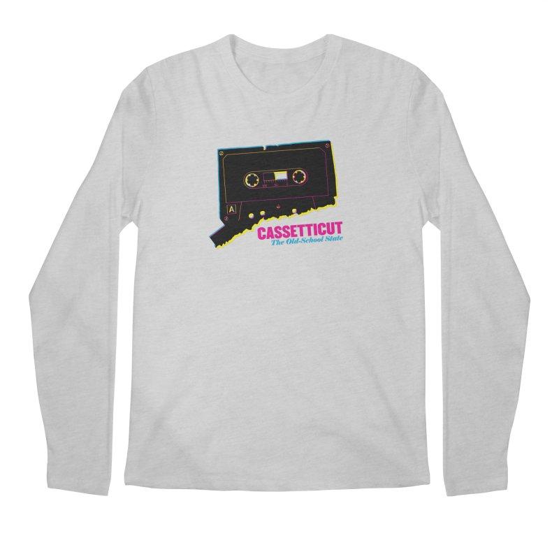 Cassetticut: The Old School State Men's Regular Longsleeve T-Shirt by Tom Pappalardo / Standard Design