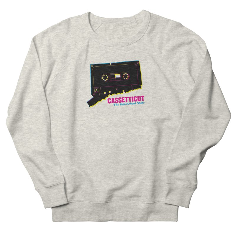 Cassetticut: The Old School State Men's French Terry Sweatshirt by Tom Pappalardo / Standard Design