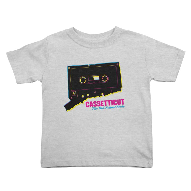 Cassetticut: The Old School State Kids Toddler T-Shirt by Tom Pappalardo / Standard Design