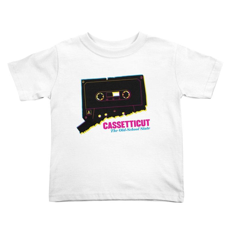 Cassetticut: The Old School State Kids Toddler T-Shirt by Tom Pappalardo / Standard Design