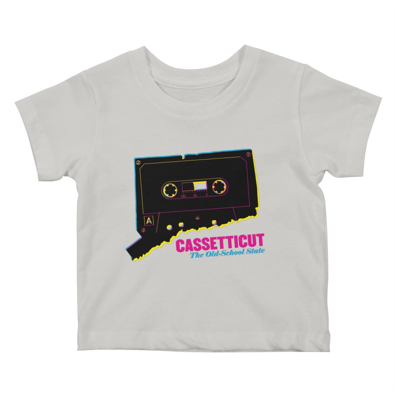 Cassetticut: The Old School State Kids Baby T-Shirt by Tom Pappalardo / Standard Design