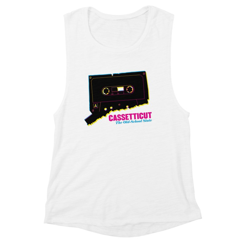 Cassetticut: The Old School State Women's Tank by Object/Tom Pappalardo