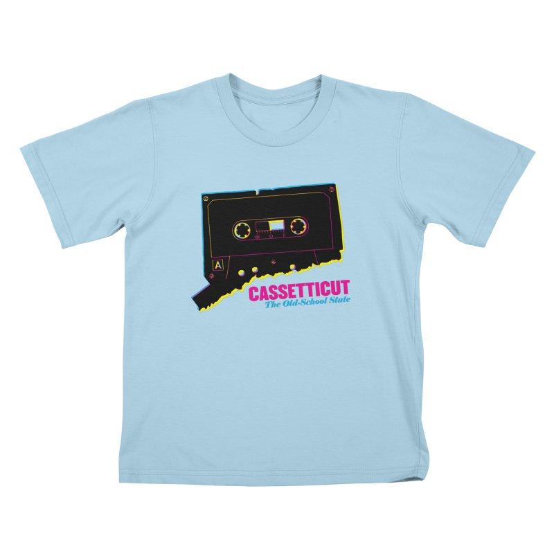 Cassetticut: The Old School State Kids T-Shirt by Tom Pappalardo / Standard Design
