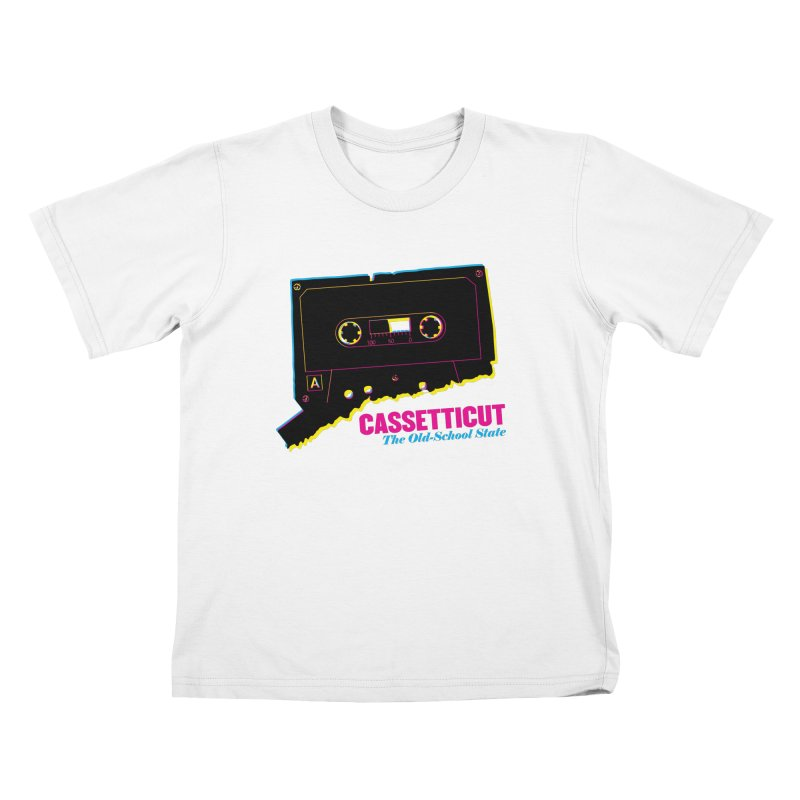 Cassetticut: The Old School State Kids T-Shirt by Tom Pappalardo / Standard Design
