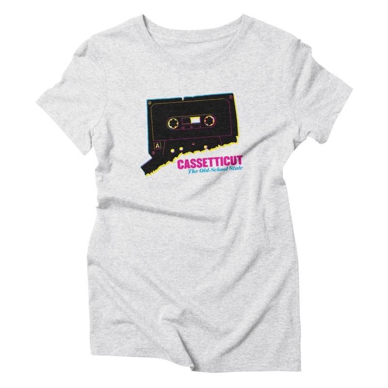 Cassetticut: The Old School State Women's T-Shirt by Tom Pappalardo / Standard Design