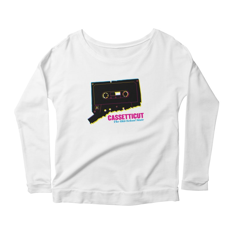 Cassetticut: The Old School State Women's Scoop Neck Longsleeve T-Shirt by Tom Pappalardo / Standard Design