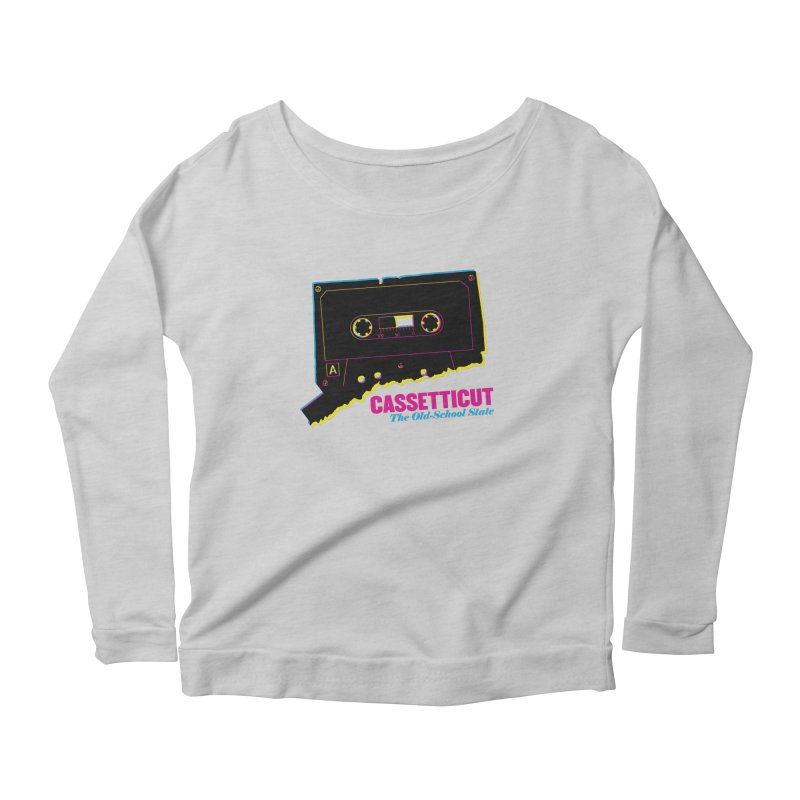 Cassetticut: The Old School State Women's Longsleeve T-Shirt by Object/Tom Pappalardo