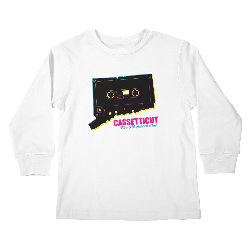 Cassetticut: The Old School State Kids Longsleeve T-Shirt by Tom Pappalardo / Standard Design