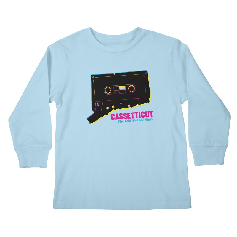 Cassetticut: The Old School State Kids Longsleeve T-Shirt by Tom Pappalardo / Standard Design