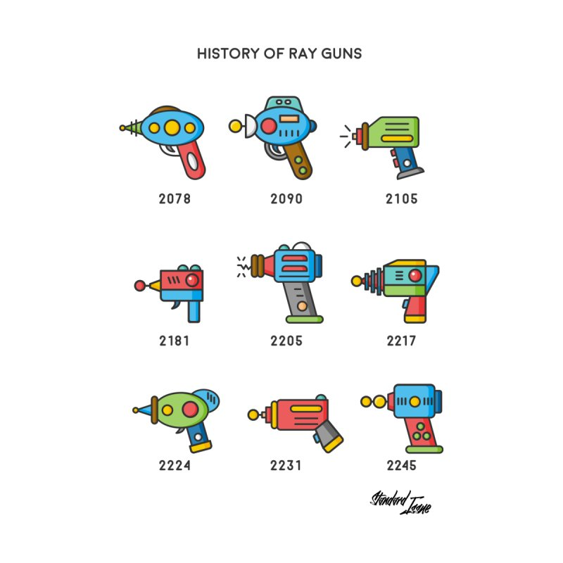 History of Ray Guns by Standard Issue Clothing