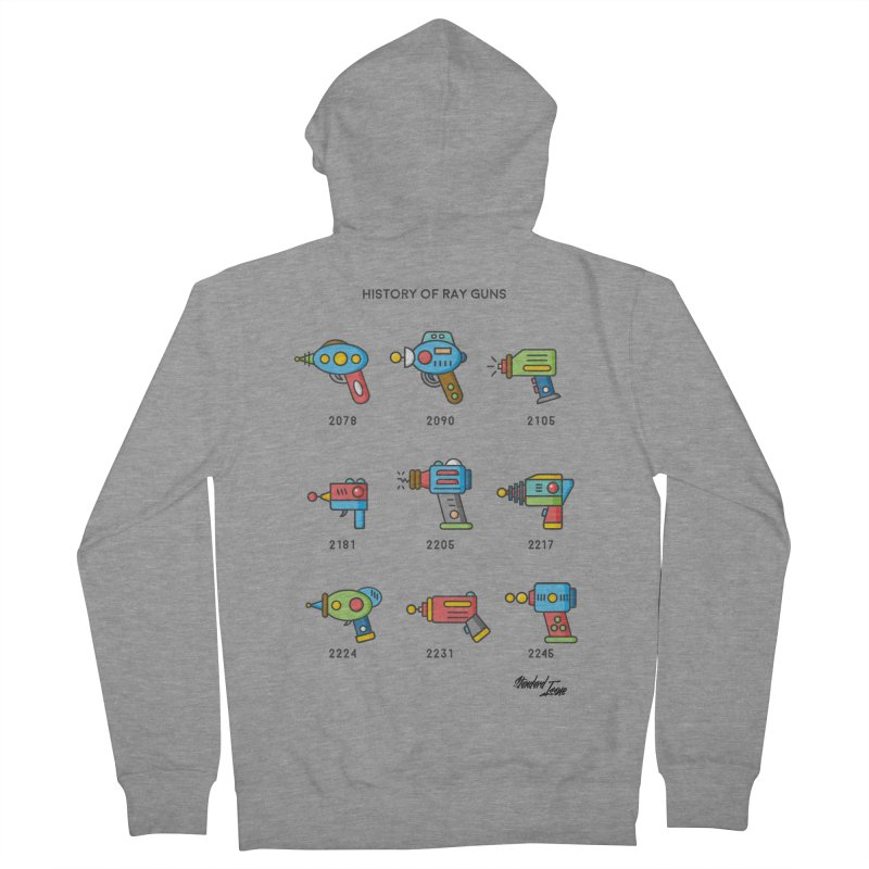 History of Ray Guns Women's Zip-Up Hoody by Standard Issue Clothing