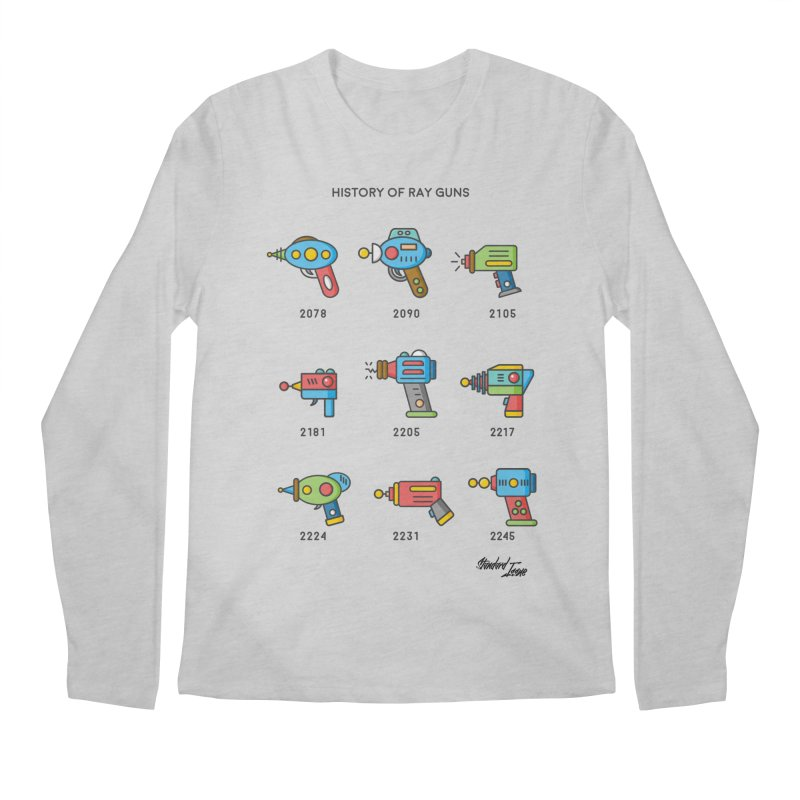 History of Ray Guns Men's Longsleeve T-Shirt by Standard Issue Clothing